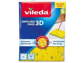 Dweil Vileda 3D geel 2 stuks