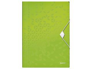Elastomap Leitz WOW 3-kleps A4 PP groen