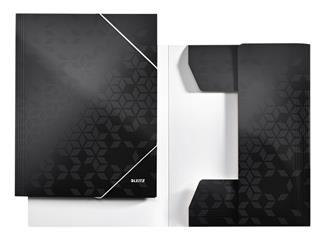Elastomap Leitz WOW 3-kleps A4 karton zwart