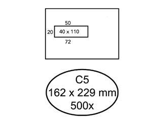 Envelop Hermes C5 162x229mm venster 4x11 links zelfkl 500st
