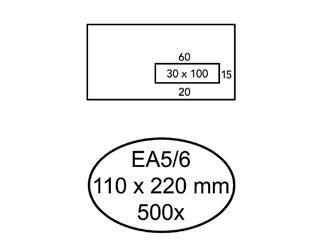 Envelop Quantore 110x220mm venster 3x10cm rechts zelfkl 500s