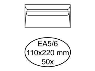 Envelop Quantore bank EA5/6 110x220mm zelfklevend wit 50stuk