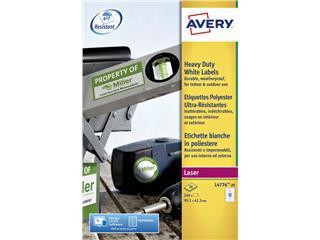 Etiket Avery L4776-20 99.1x42.3Mm polyester wit 240stuks