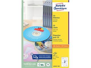 Etiket Avery L6043-100 CD wit 200stuks