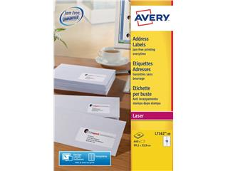 Etiket Avery L7162-40 99.1x33.9mm wit 640stuks