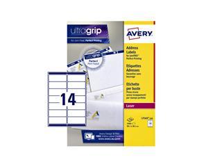 Etiket Avery L7163-250 99.1x38.1mm wit 3500stuks