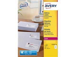 Etiket Avery L7163-40 99.1x38.1mm wit 560stuks