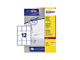 Etiket Avery L7164 63.5x72mm wit 1200stuks