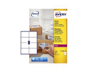 Etiket Avery L7165B 99.1x67.7mm blockout 800stuks