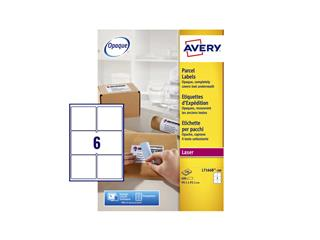 Etiket Avery L7166B 99.1x93.1mm blockout 600stuks