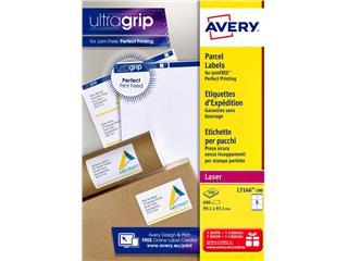 Etiket Avery L7166-100 99.1x93.1mm 600stuks wit
