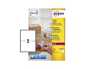 Etiket Avery L7168B 199.6x143.5mm blockout 200stuks