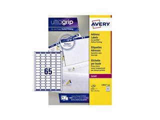 Etiket Avery L7651 38.1x21.2mm wit 6500stuks