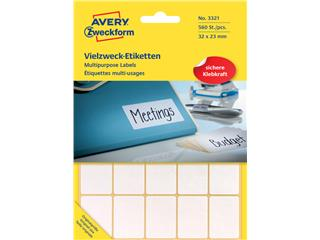 Etiket Avery Zweckform 3321 32x23mm wit 560stuks