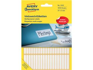 Etiket Avery Zweckform 3322 37x5mm wit 1976stuks