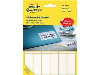 Etiket Avery Zweckform 3327 50x19mm wit 486stuks