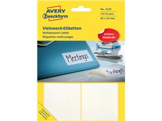 Etiket Avery Zweckform 3330 80x54mm wit 112stuks