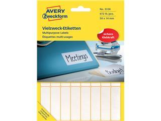 Etiket Avery Zweckform 3336 50x14mm wit 672stuks