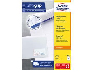 Etiket Avery Zweckform 3424 105x48mm wit 1200stuks