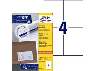 Etiket Avery Zweckform 3483 105x148mm A6 wit 800stuks
