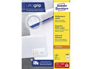 Etiket Avery Zweckform 3484 105x37mm wit 1600stuks