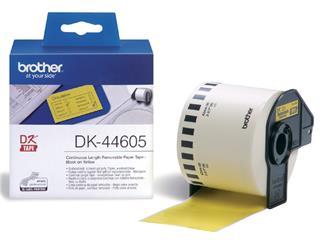 Etiket Brother DK-44605 62mm thermisch 30-meter geel papier