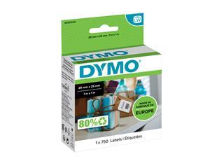 Etiket Dymo 11253 labelwriter 25x25mm verwijderbaar 750stuk