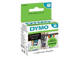 Etiket Dymo 11353 labelwriter 13mmx25mm verwijderbaar 1000stuks