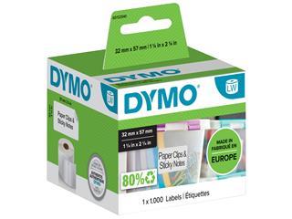 Etiket Dymo 11354 labelwriter 32x57mm verwijderbaar 1000stuks