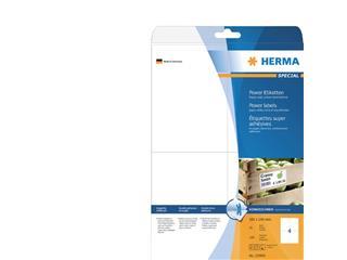 Etiket Herma power 10909 105x148mm A6 wit 100stuks