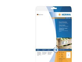 Etiket Herma power 10911 210x297mm A4 wit 25stuks