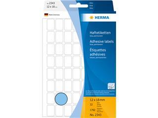 Etiket Herma 2343 12x18mm blauw 1792stuks