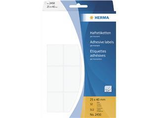 Etiket Herma 2450 25x40mm wit 512stuks