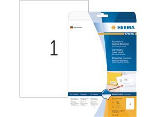 Etiket Herma 4230 210x297mm A4 correctie wit 25stuks