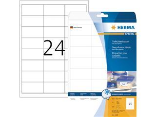 Etiket Herma 4389 66x33.8mm diepvries 600stuks wit