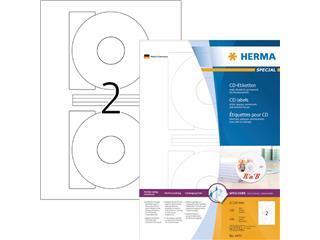 Etiket Herma 4471 CD 116mm wit opaqua 200stuks