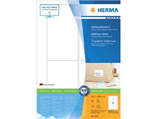 Etiket Herma 4472 78.7x139.7mm premium wit 400stuks