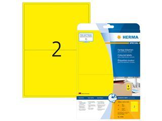 Etiket Herma 4496 199.6x143.5mm 40stuks geel