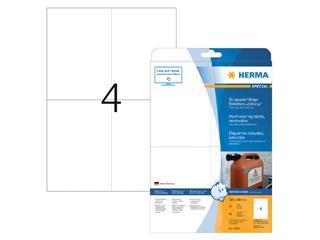 Etiket Herma 4576 105x148mm 80st folie wit