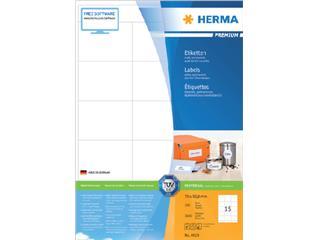 Etiket Herma 4618 70x50,8mm premium wit 3000stuks