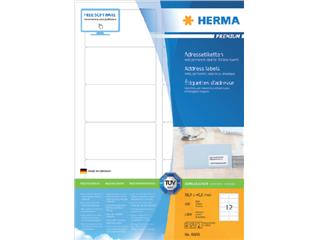 Etiket Herma 4666 88.9x46.6mm premium wit 1200stuks