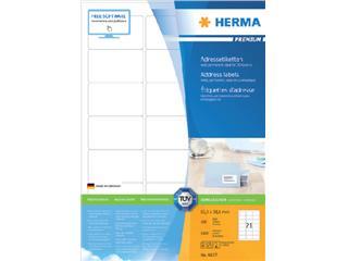 Etiket Herma 4677 63.5x38.1mm premium wit 2100stuks