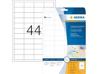 Etiket Herma 4680 48.3x25.4mm transparant 1100stuks