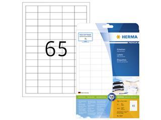 Etiket Herma 5027 A4 38.1x21.2mm premium wit