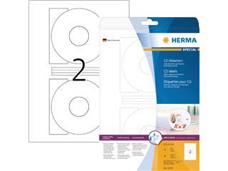 Etiket Herma 5079 CD 116mm wit opaqua 50stuks