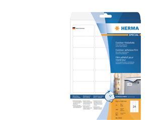 Etiket Herma 9532 63.5x33.9mm 240st folie wit