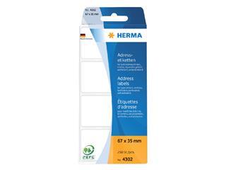 Etiket Herma adres 4302 67x35mm 250stuks zig-zag