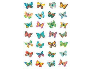 Etiket Herma vlinder glitter folie