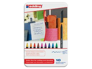 Fineliner edding 1200 assorti 0.5-1mm blik à 10 stuks