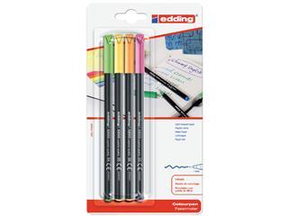 Fineliner edding 1200 neon assorti 1mm blister à 4 stuks